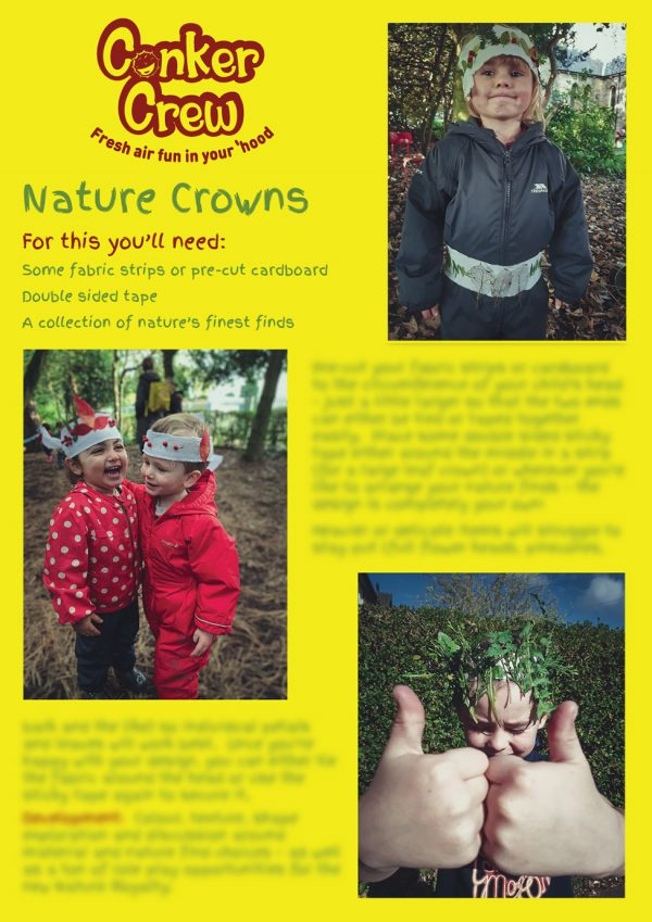 Conker Crew Play Prompts - Nature Crowns